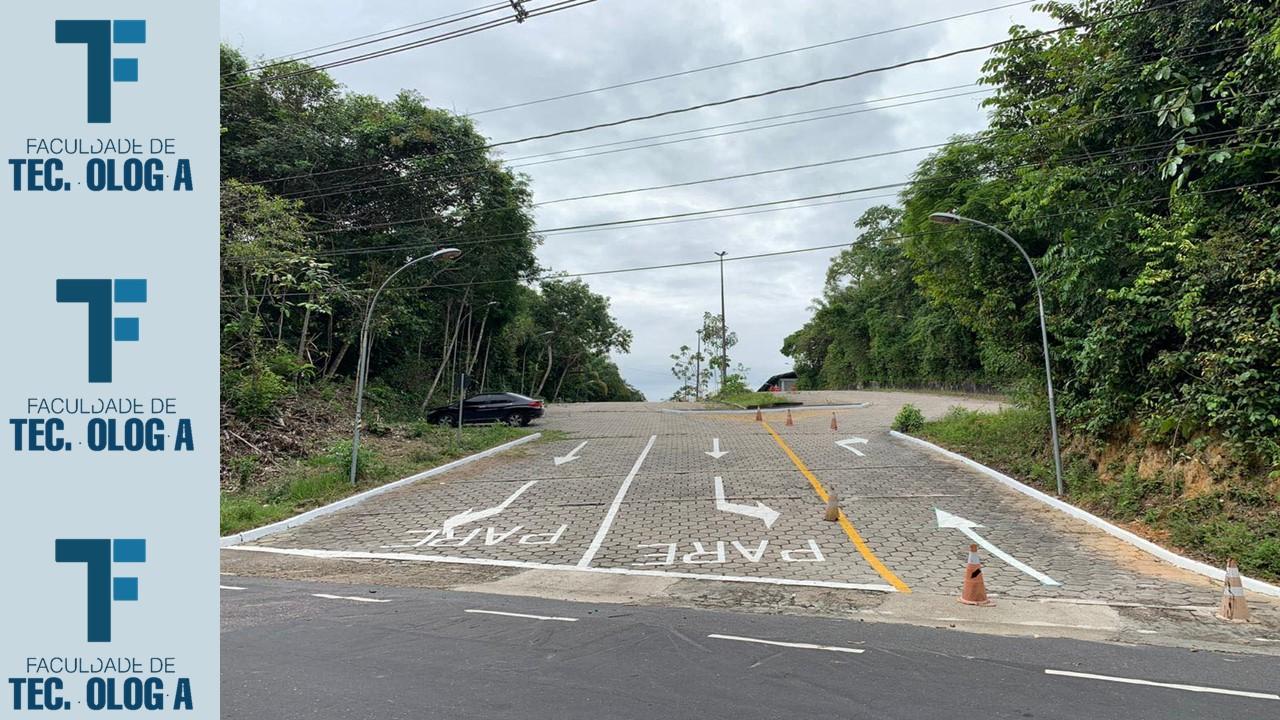 Prefeitura do Campus entrega sinalização de fluxo do estacionamento da FT